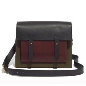 Madewell Essex messenger color block bag